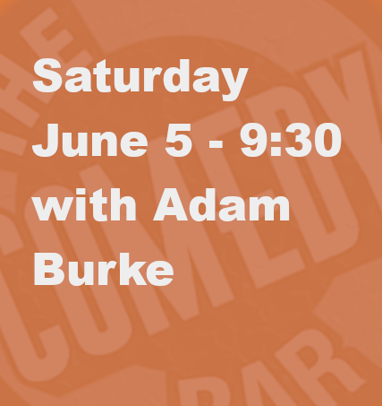 Headlining Comedian Adam Burke is a long time club favorite and regular guest on NPR's hit News Quiz Show: Wait wait... Don't Tell Me!